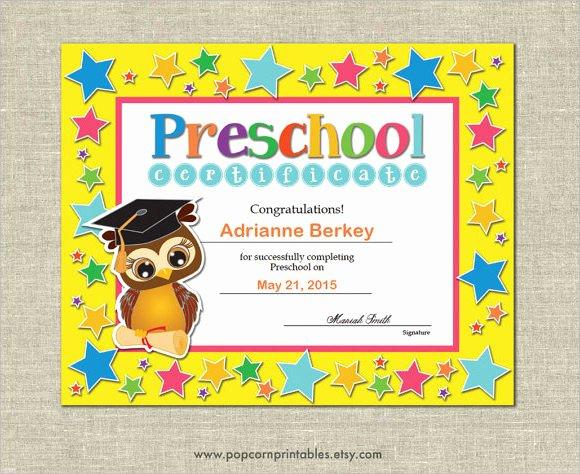 Preschool Diploma Template Word Best Of 20 Graduation Certificates Psd Word Ai Indesign