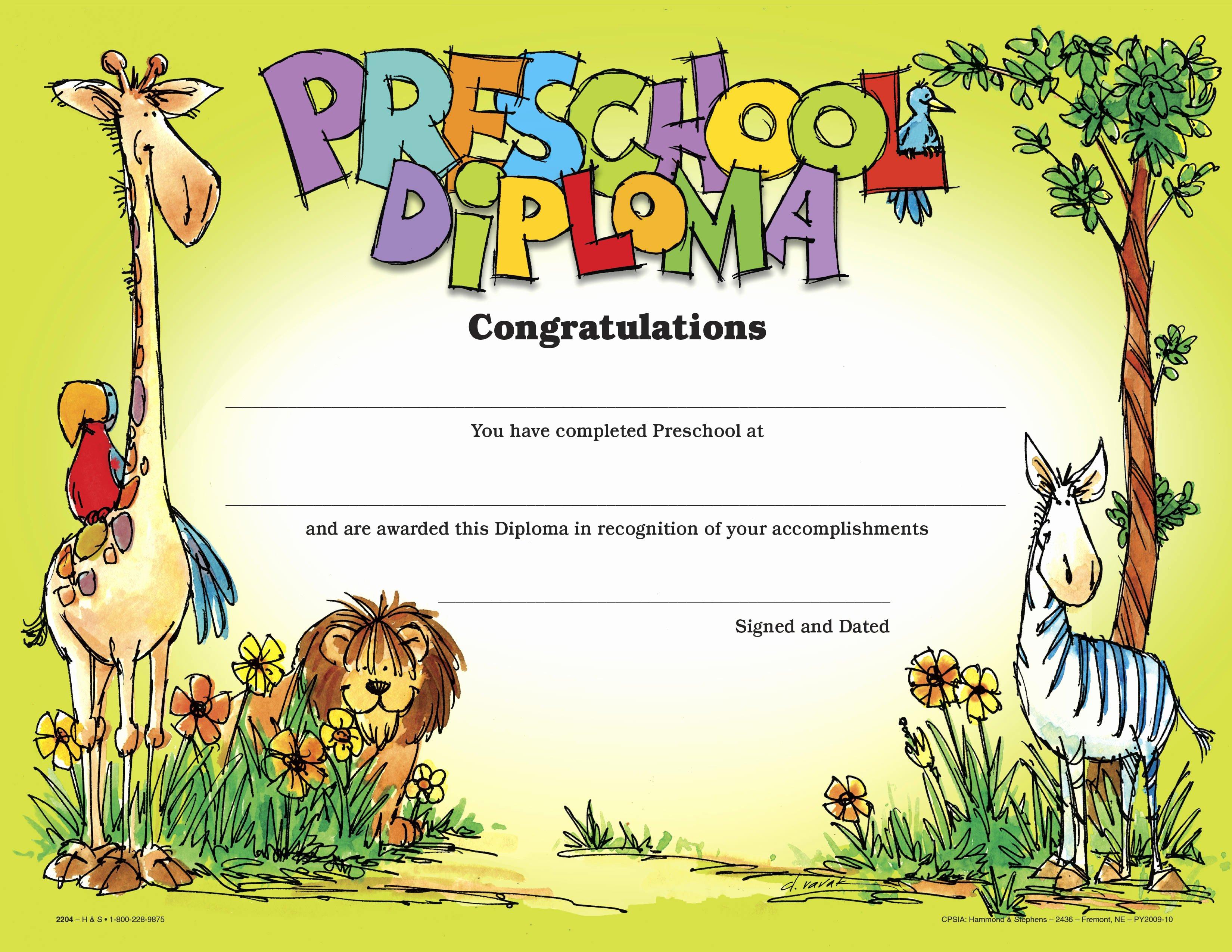 Preschool Diploma Template Word Elegant Diploma Preschool Diploma Template