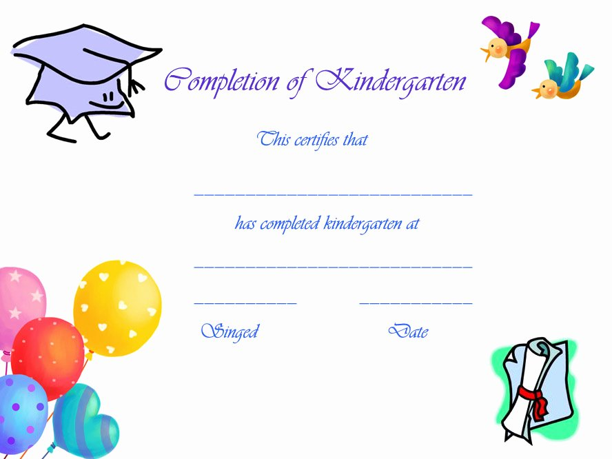 Preschool Diploma Template Word Elegant Free Printable Preschool Graduation Certificates – Planner