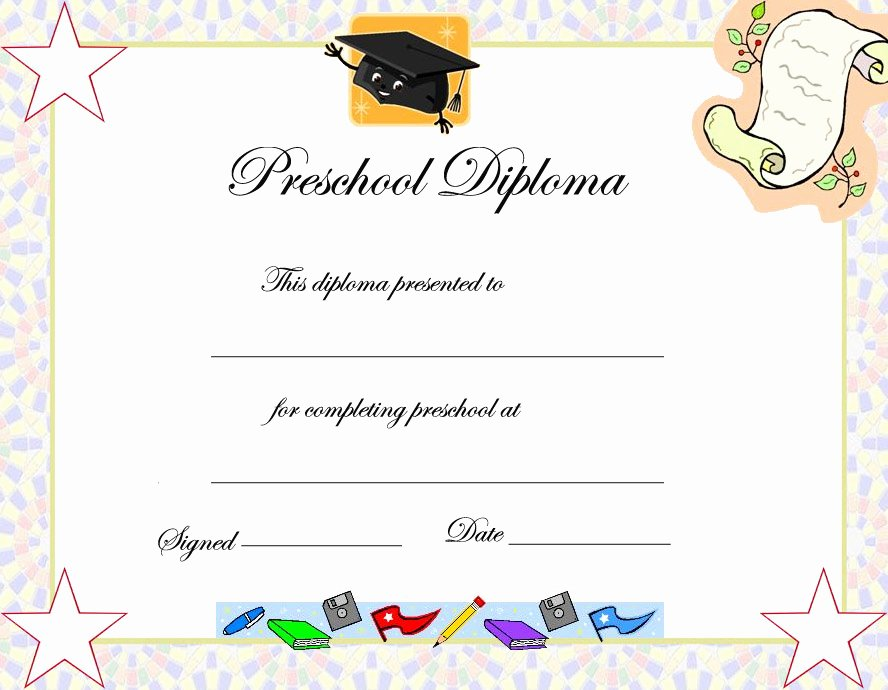 Preschool Diploma Template Word Lovely Free Printables Preschool Diploma Graduation Invitations
