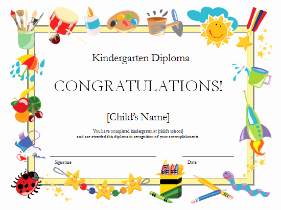 Preschool Diploma Template Word Lovely Preschool Certificates On Pinterest