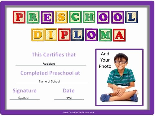 Preschool Diploma Template Word Luxury Preschool Certificates