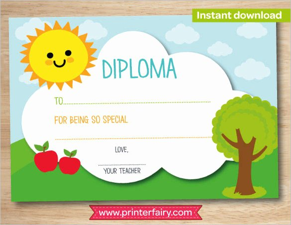 Preschool Diploma Template Word Luxury Preschool Graduation High Res Printable Certificate