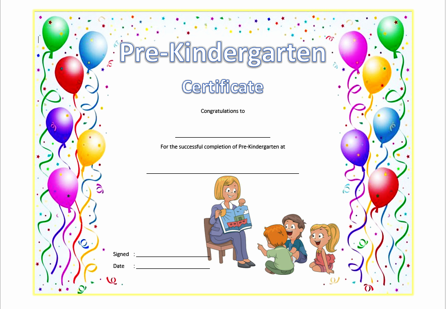 Preschool Diploma Template Word Unique Pre K Diploma Certificate Editable 10 Great Templates
