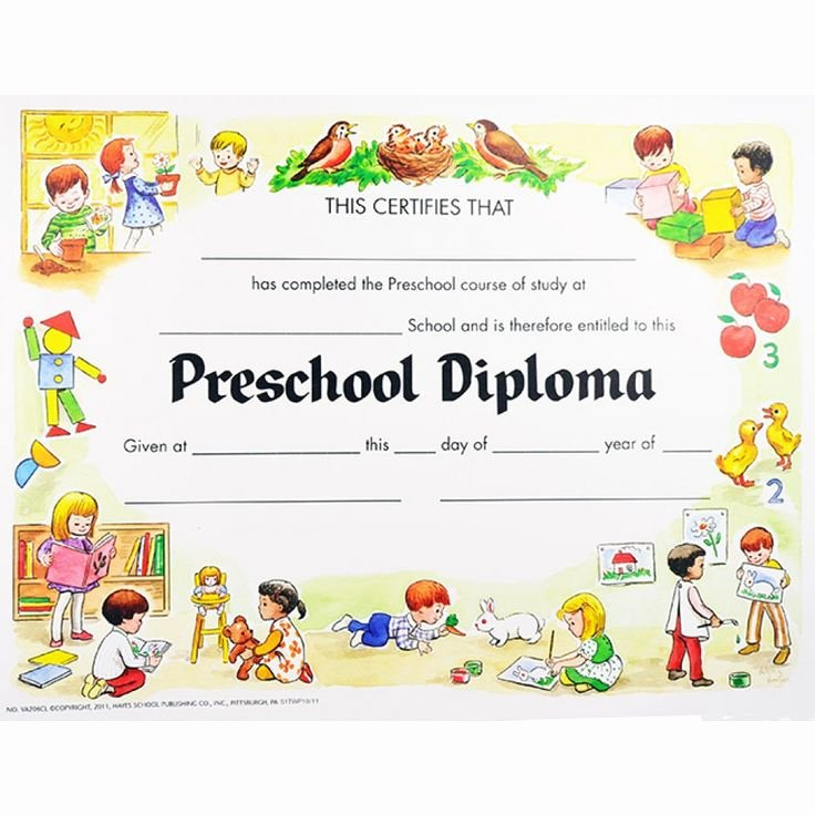 Preschool Diploma Template Word Unique Preschool Graduation Certificates
