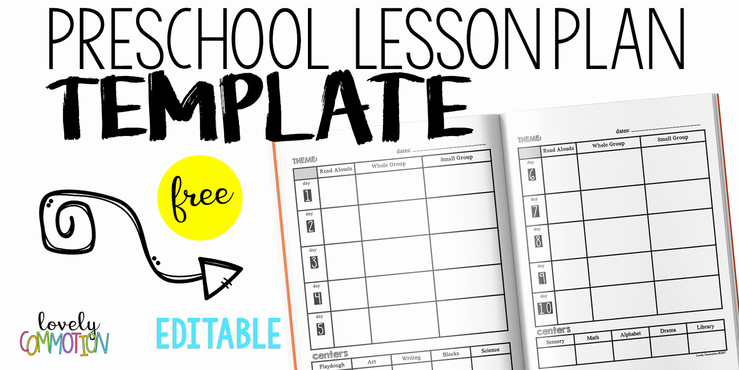 Preschool Lesson Plan Examples New Easy and Free Preschool Lesson Plan Template — Lovely