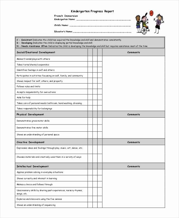 Preschool Progress Reports Templates Elegant Progress Report Template 55 Free Pdf Ms Word Google