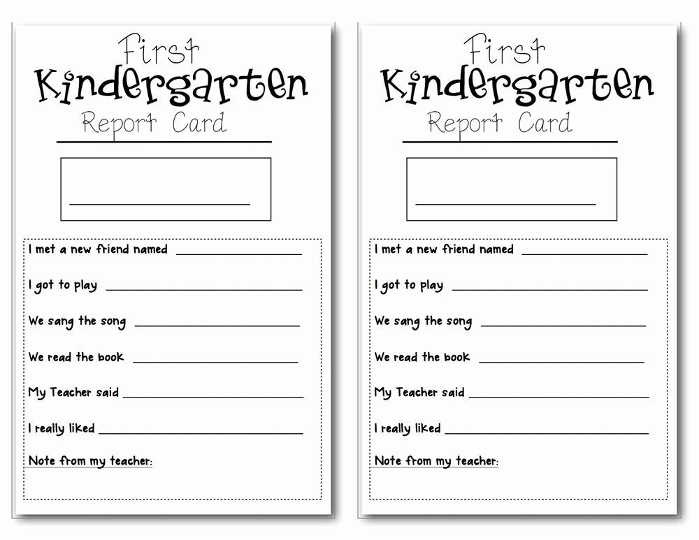 Preschool Report Card Template Elegant Preschool Report Card Horneforsfo