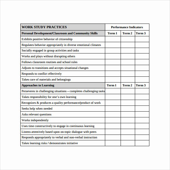 Preschool Report Card Template Fresh 14 Progress Report Card Templates Docs Word Pdf Pages