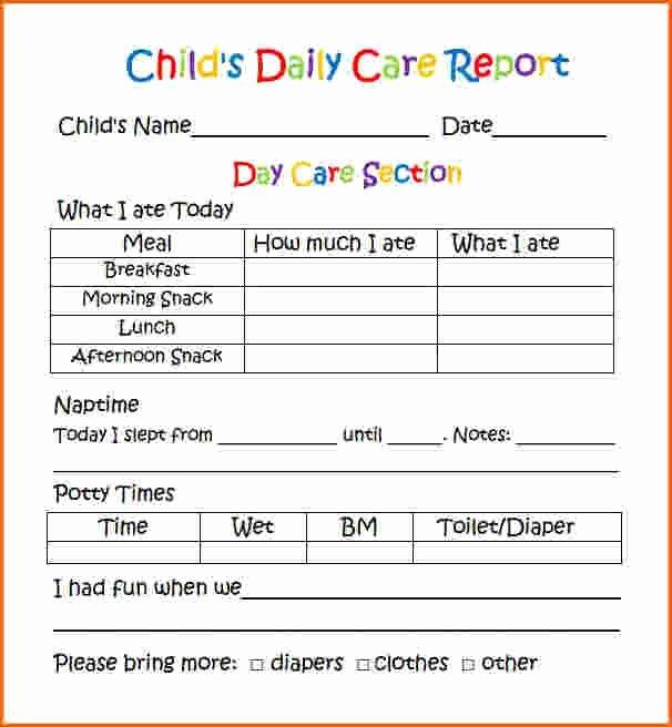 Preschool Report Card Template Luxury Printable Weekly Preschool Progress Reports Yahoo Image