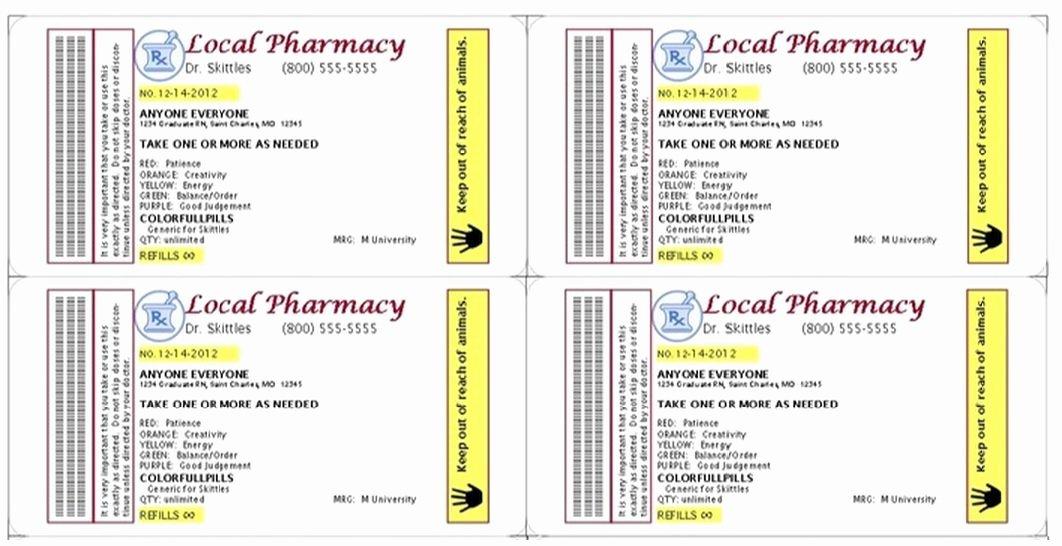 Prescription Pill Bottle Label Template Beautiful Pin by Kathy March On Grad