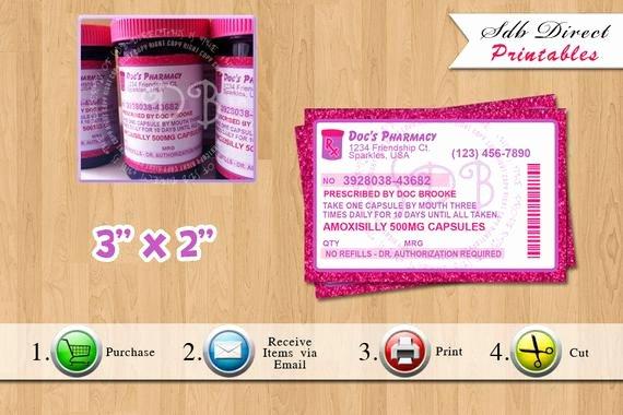 Prescription Pill Bottle Label Template Lovely Prescription Labels Pill Bottle Labels by Yellowfieldsdesigns