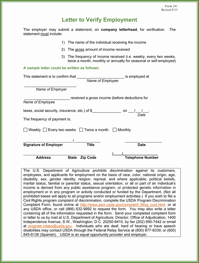 Previous Employment Verification form Template Elegant 5 Employment Verification form Templates to Hire Best Employee