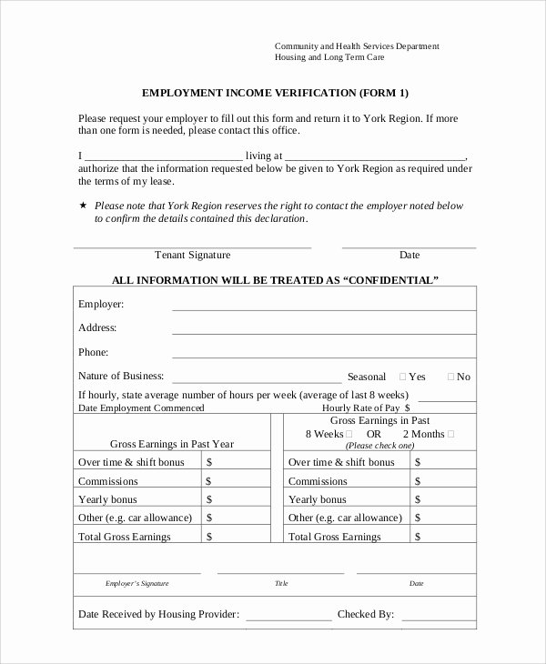 Previous Employment Verification form Template Lovely Sample Employment Verification form 8 Examples In Word Pdf