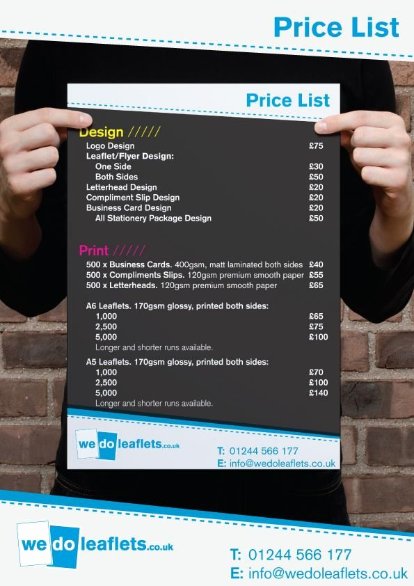 Price List Design Template Awesome Graphic Designer Price List Google Search