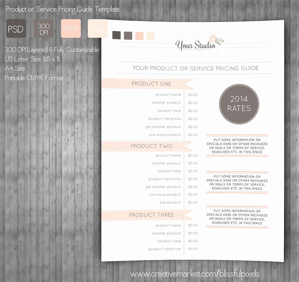 Price List Design Template Beautiful Pricing Guide Template Stationery Templates Creative
