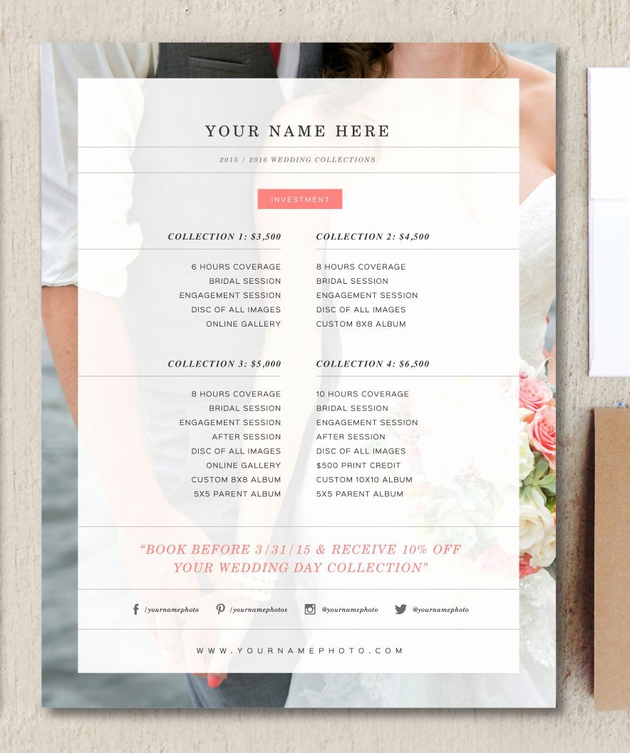 Price List Design Template Best Of Wedding Grapher Price List Flyer Templates