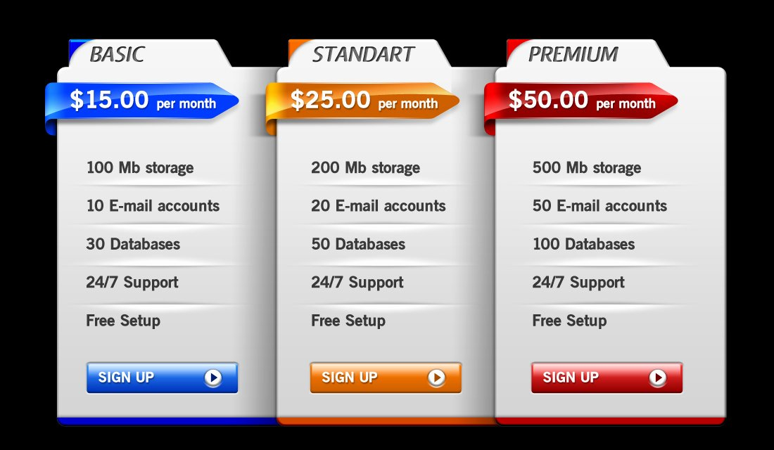 Price List Design Template Elegant 35 Best Pricing Table Psd Templates Free Download