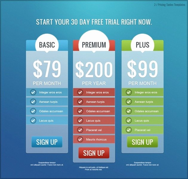 Price List Design Template Fresh Pricing List Pack