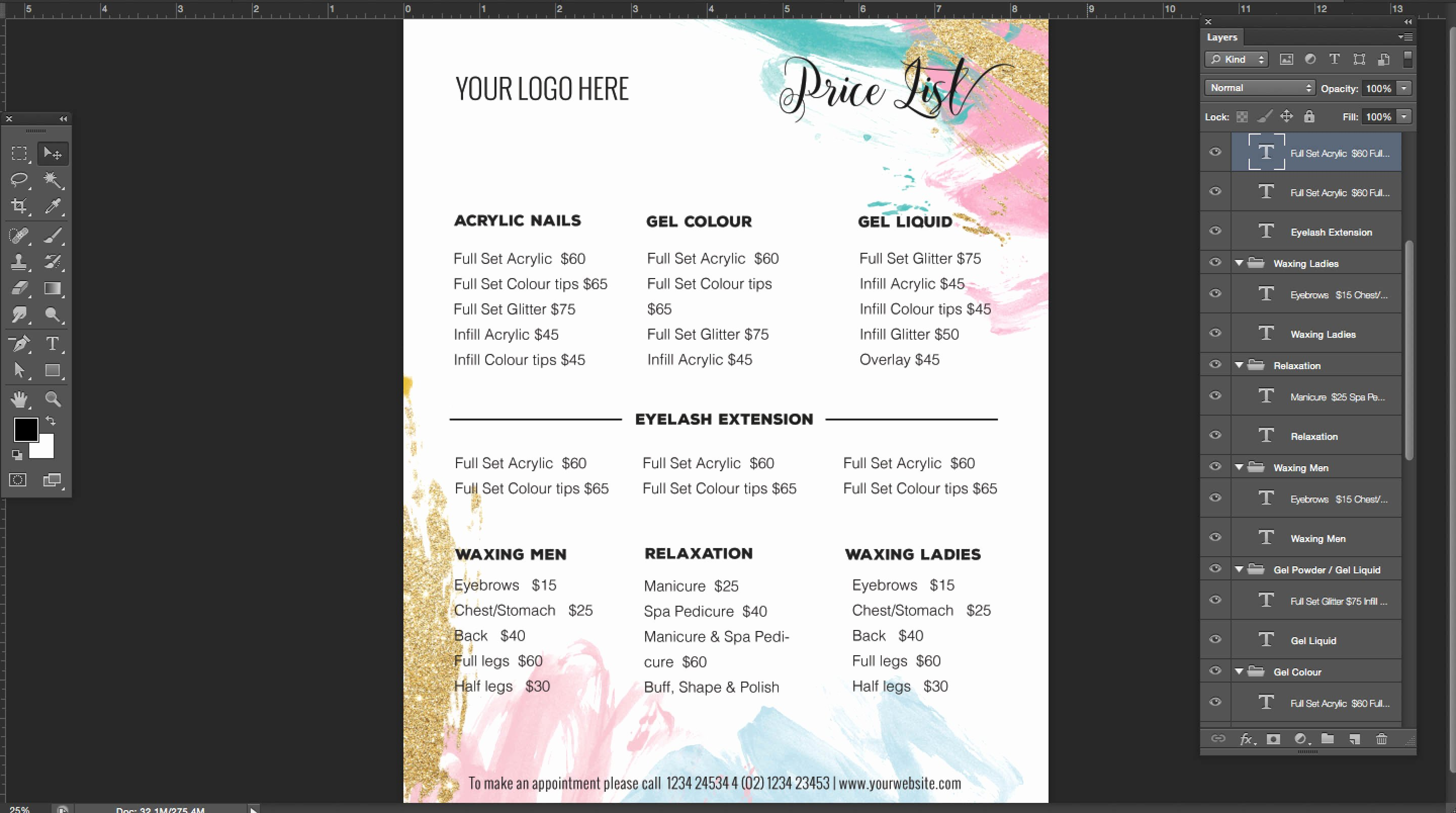 Price List Design Template Inspirational Pricing List Template Price List Template Menu Template