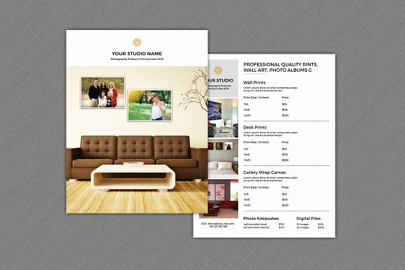 Price List Design Template Unique Graphy Product Price List V259 Flyer Templates On