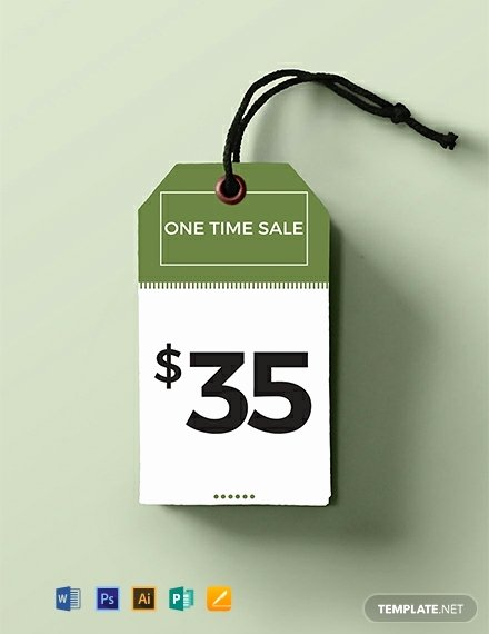 Price Tag Template Word Elegant 50 Free Tag Templates Word Psd Indesign