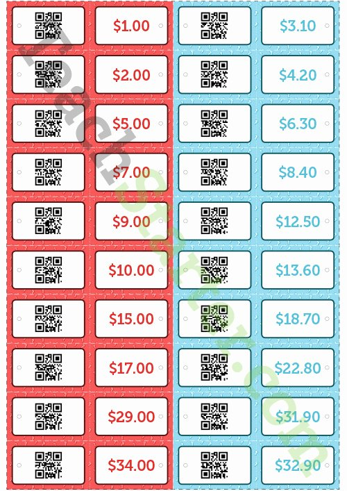 Price Tag Template Word Elegant Qr Code Price Tags Teaching Resource – Teach Starter
