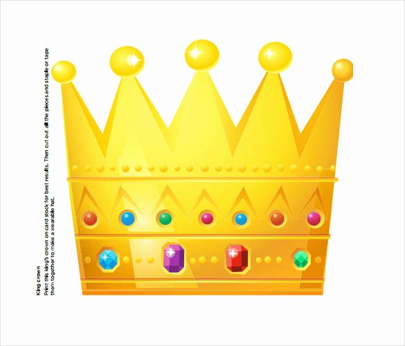Prince Crown Cut Out Best Of 21 Paper Crown Templates Pdf Doc
