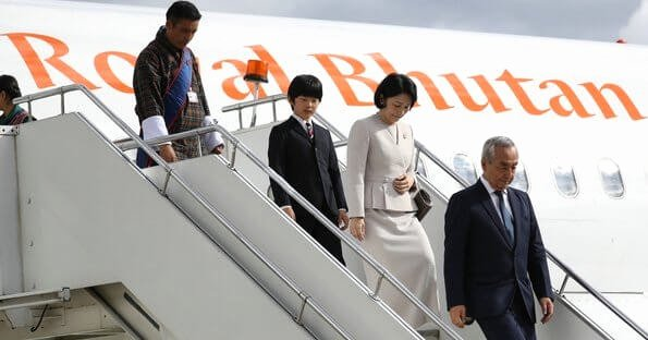 Prince Crown Cut Out Elegant Japanese Crown Prince Family S Visit to Bhutan 1st Day