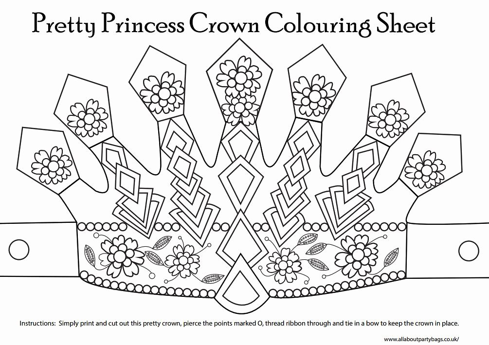 Prince Crown Cut Out Inspirational Printable Colour In Crown