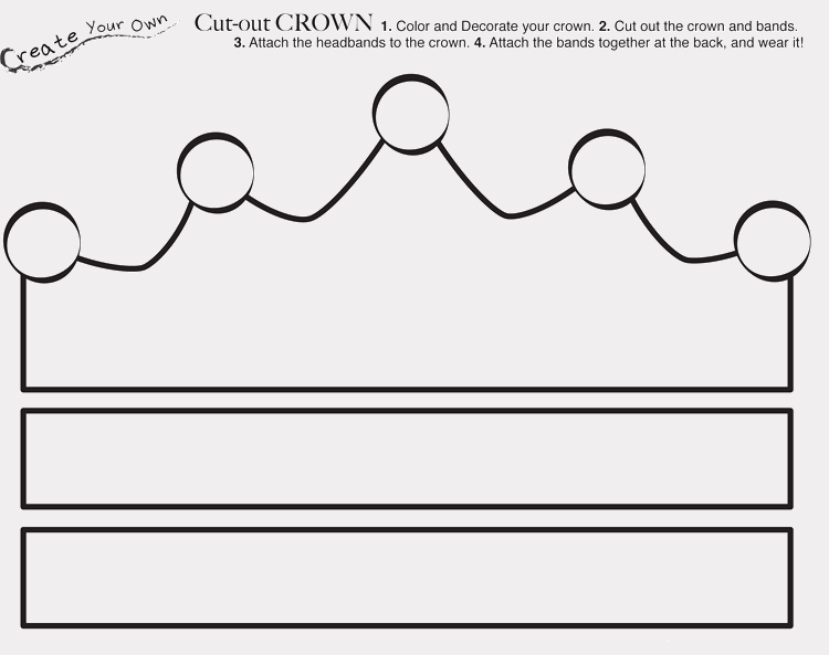 Prince Crown Cut Out Lovely Paper Crown Templates for Prince Princes Print & Cut at