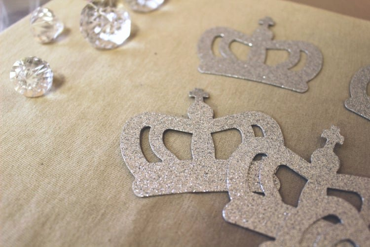 Prince Crown Cut Out New Crown Glitter Cut Out Princess Prince Silver by