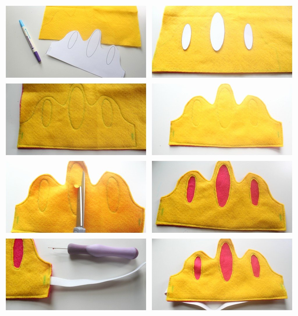 Prince Crown Cut Out Unique Eat Sleep Make Craft Reverse Applique Felt Crowns with