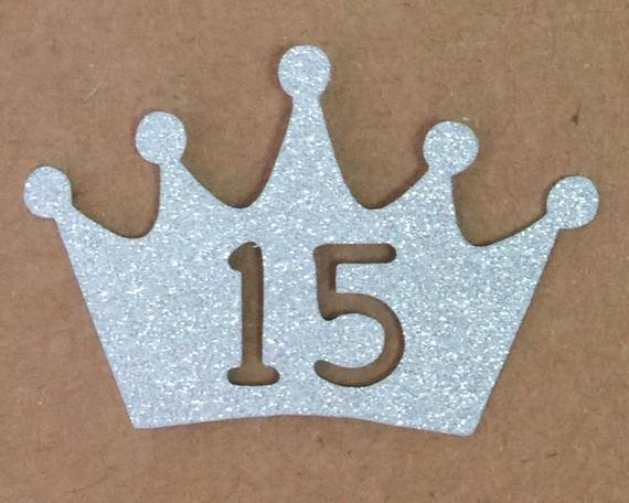Princess Crown Cut Out Awesome Crown Number Princess Glitter Die Cutout Handmade Scrapbooking