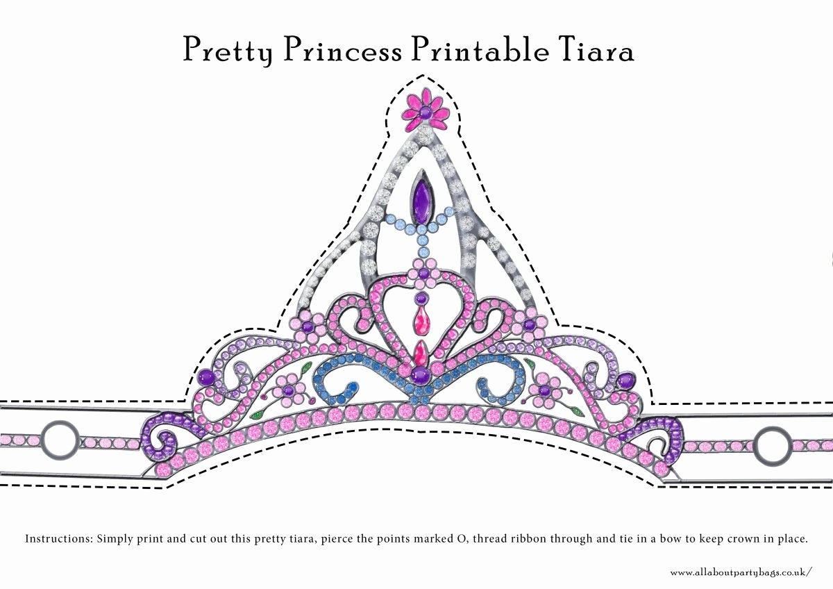 Princess Crown Cut Out Awesome Free Downloadable Pretty Princess Tiara to Cut Out and