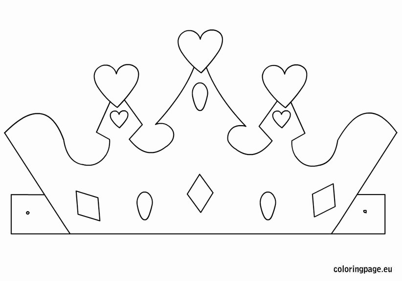 Princess Crown Cut Out Best Of Princess Crown Template – Coloring Page