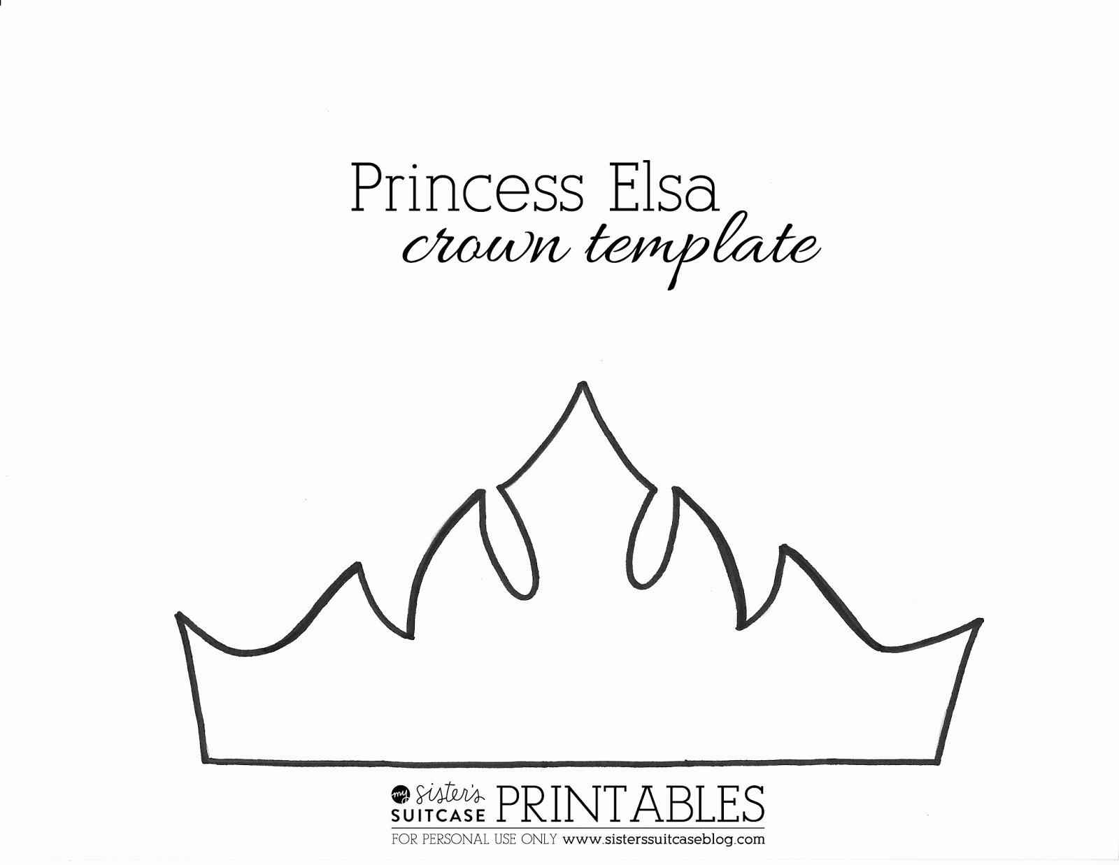 Princess Crown Cut Out Fresh Frozen Elsa Crown Template & Sven Antler Template