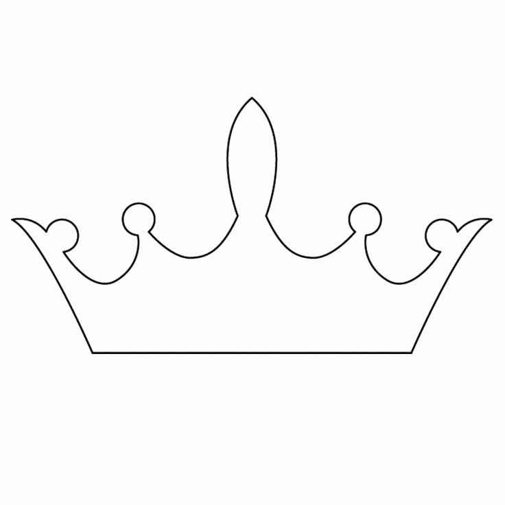 Princess Crown Cut Out Lovely 25 Best Ideas About Crown Template On Pinterest