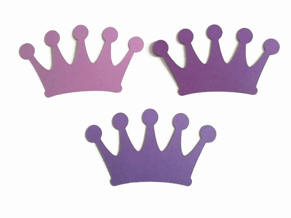 Princess Crown Cut Out Luxury Set Of 25 Purple Crown Die Cuts Princess Baby Shower