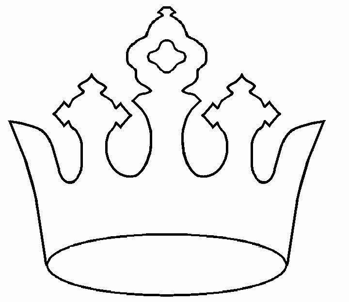 Princess Crown Cut Out New 1000 Ideas About Crown Template On Pinterest