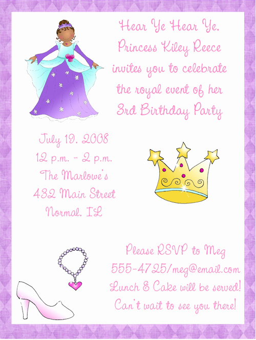 Princess Party Invitation Wording Best Of Princess Birthday Party Invitation Wording