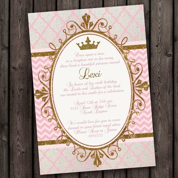 Princess Party Invitation Wording Best Of Royal Princess Party Invitations tons to Choose From Free