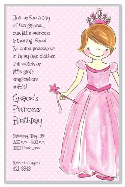 Princess Party Invitation Wording Fresh Princess Girl Birthday Party Invitations