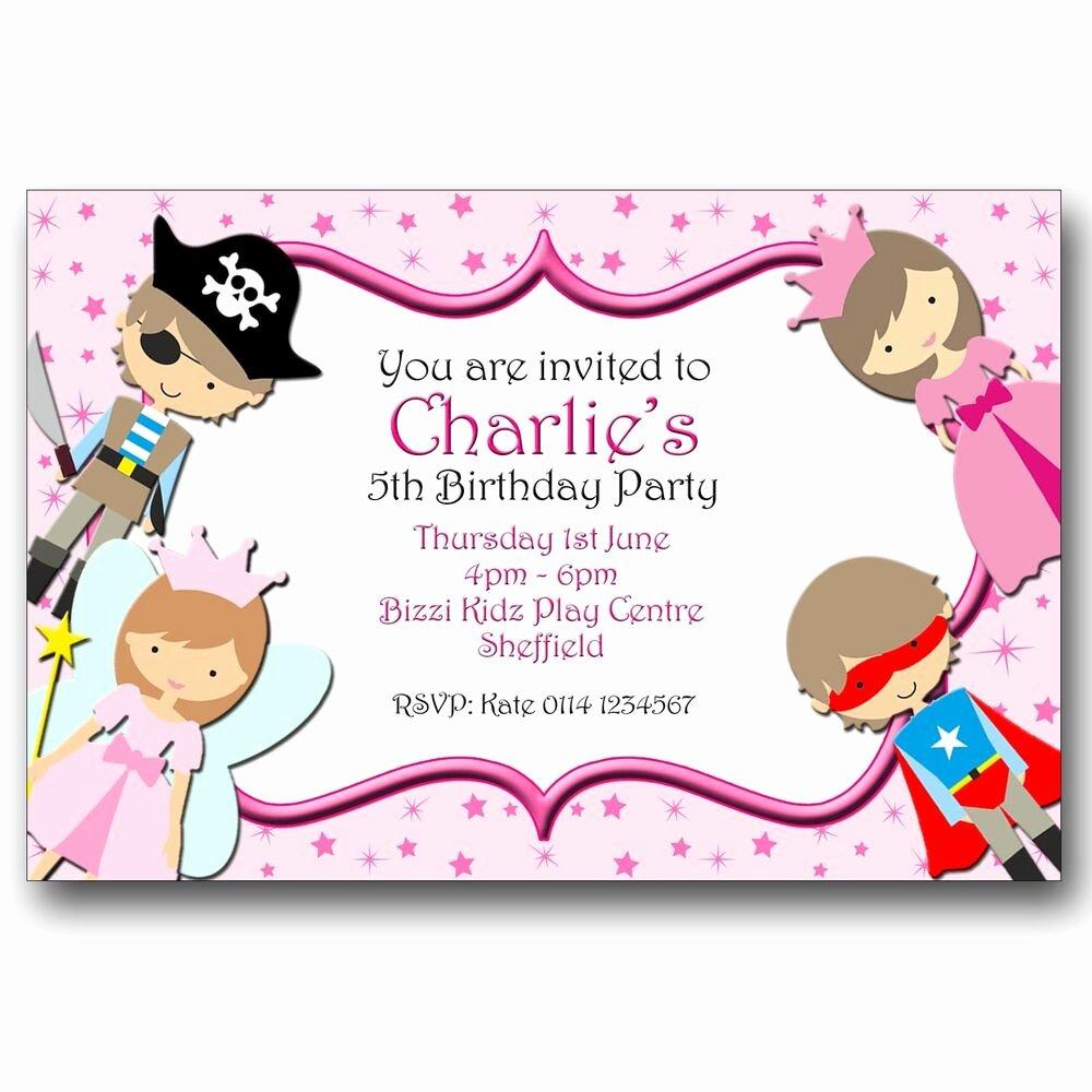 Princess Party Invitation Wording Inspirational Personalised Birthday Party Invitations Fairy Princess