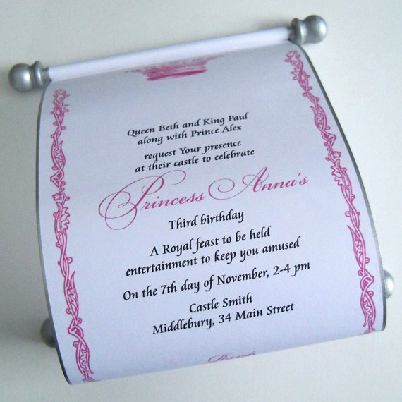Princess Party Invitation Wording Luxury Royal Princess Birthday Invitation Wording