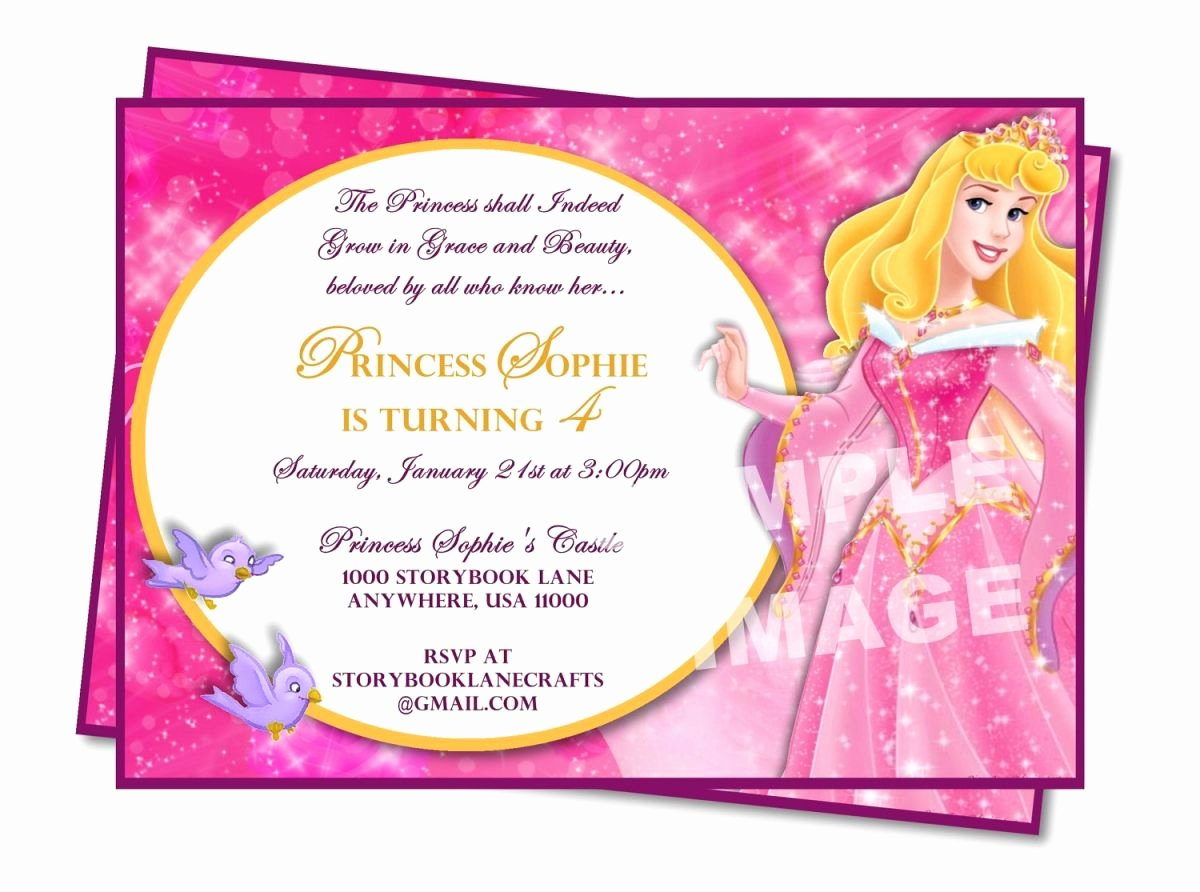 Princess Party Invitation Wording New Sample Princess Birthday Invitation Wording