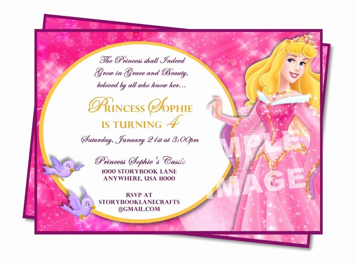 Princess Party Invitation Wording New Sample Princess Birthday Invitation Wording