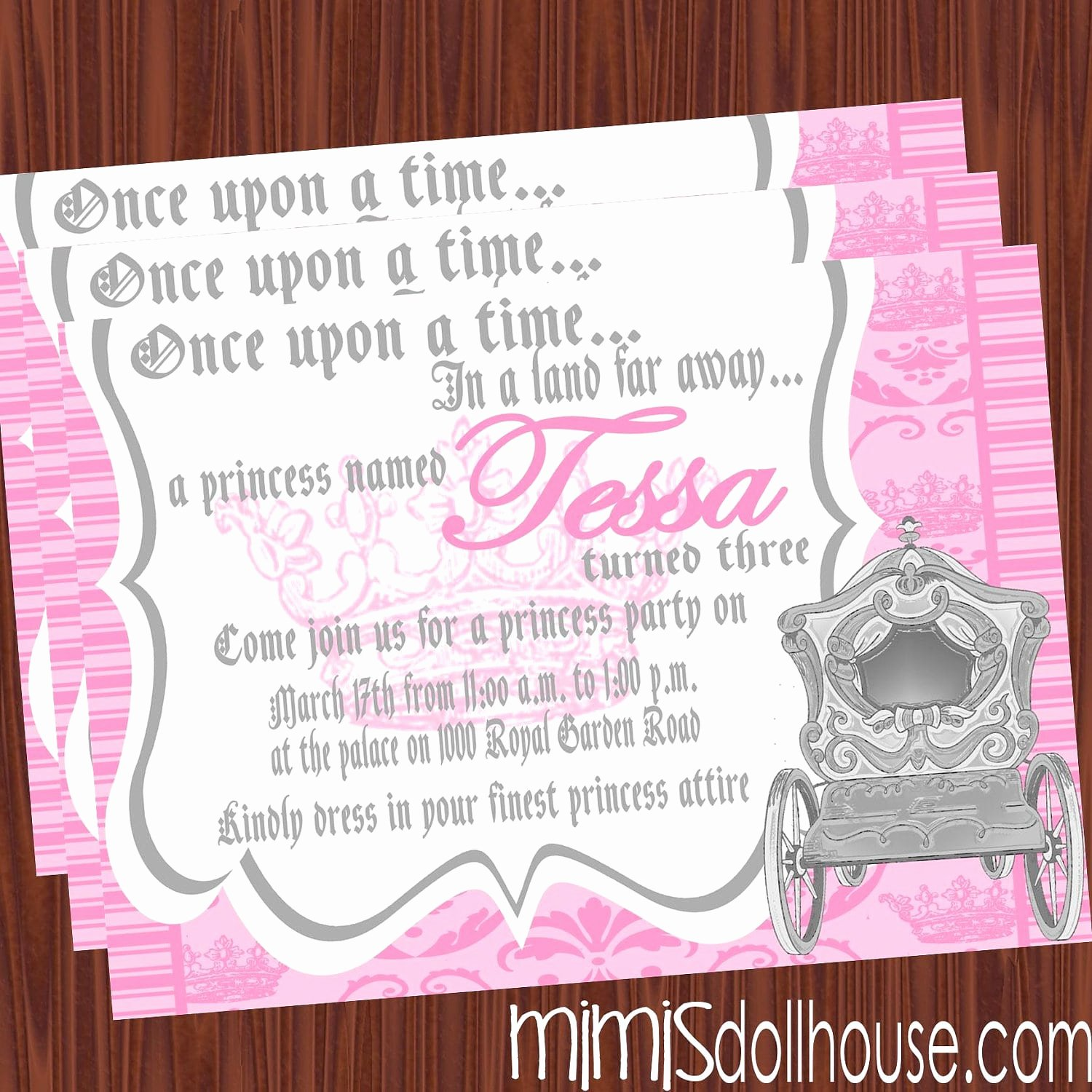 Princess Party Invitation Wording Unique Invitation for Princesses Party