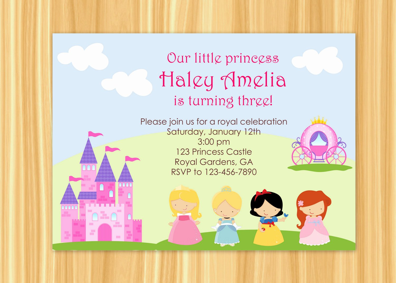 Princess Party Invitation Wording Unique Princess Party Invitation Princess Party Birthday Snow