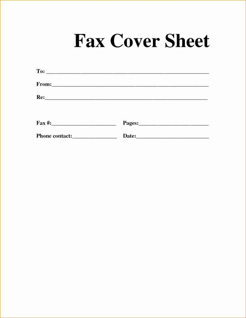 Print Fax Cover Sheet Elegant [free] Fax Cover Sheet Template